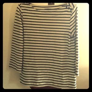 Gap navy and white striped 3/4 sleeve - size M